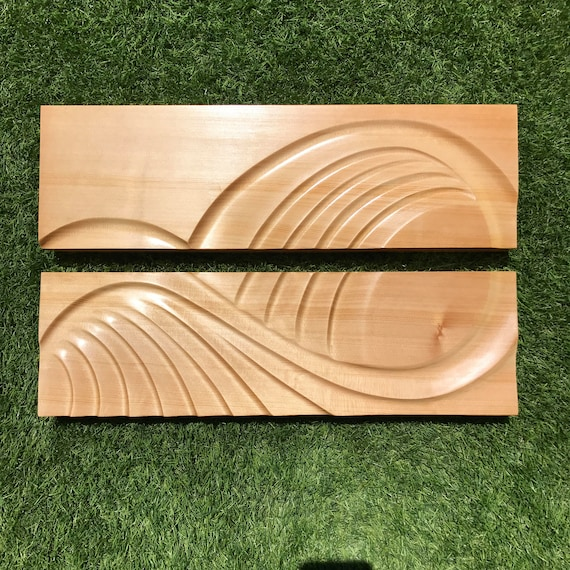 Into The Swell Spruce woodcarving wall art