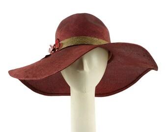Ladies Straw Hat, Kentucky Derby Hat, Wide Brim Hat, Sun Hat, Straw Hat for Women, Womens Straw Hat, Floppy Hat, Fedora Hat, Summer Hat