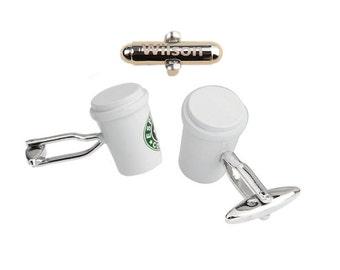 customCoffee Espresso Cufflinks Cup,giftsforteenboys,giftforyoungmen,guysprom,giftforhim,giftsforgeeks