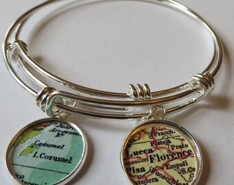 Arm party, bridesmaid bracelet, custom, BFF Gift, bohemian bracelet, college, stack bracelet, Cozumel, travel jewelry, distance friend
