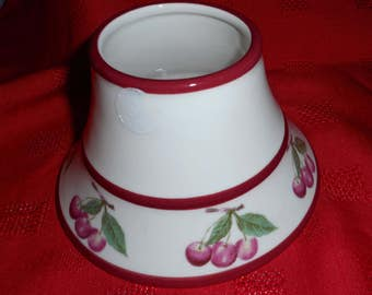 Yankee Candle Shade Topper Cherry Pattern Tea Light Use Cherries