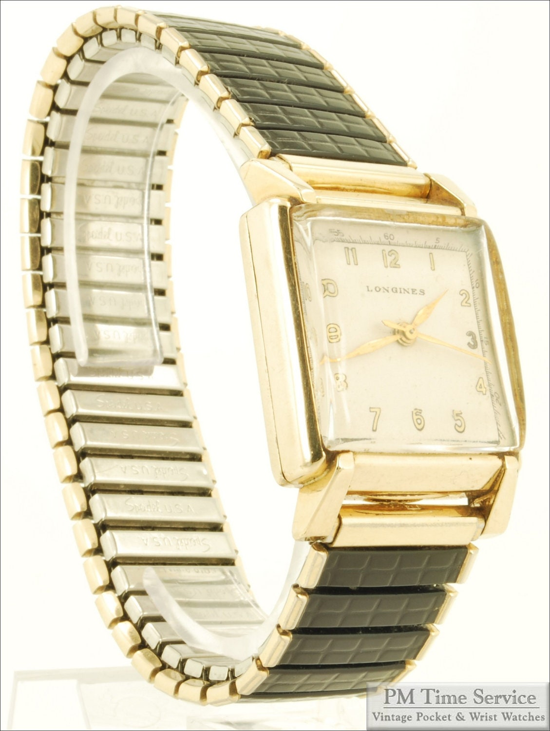 wrist ladies gold accutron strap watches l bulova mesh filled watch plated face vintage