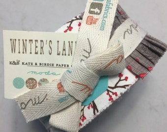 Kate & Birdie Paper Co WINTERS LANE quilting fabric jelly roll VHTF