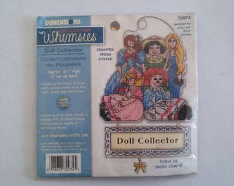 Dimensions Doll Collector Whimsies Counted Cross Stitch Kit