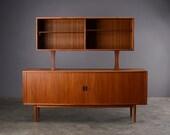 6ft. Mid Century Sideboard & Hutch Teak Arne Vodder Sibast Danish Modern
