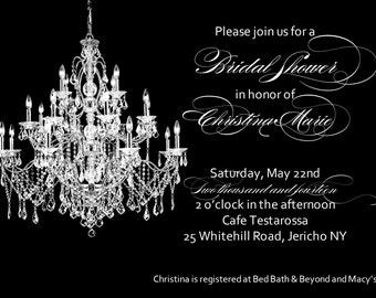 Glamorous invitation Etsy