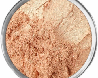 Strobing Highlighting loose mineral powder makeup bare earth pigment minerals