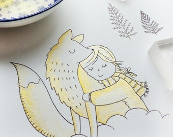 "Clear Stamp Set "" Winter Fox"" - card making, paper craft, DIY, scrapbook"
