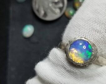 Size 8 Australian Opal ring