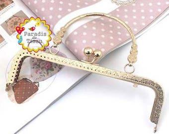 5 x large clasp with 20cm Classic Vintage goldtone K278 bag handle