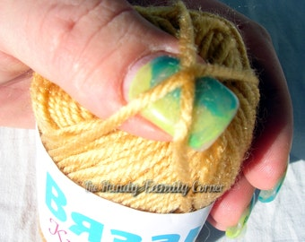 Small skeins hypoallergenic yarn, color: dark yellow