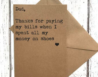 Dad card funny, funny fathers day, fathers day card, dad card humour, funny dad quote, dad birthday, dad card, dad birthday card, quote card