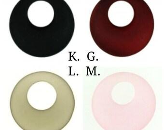 Gehen Sie Recycling-Glas Gogo Disc - 20 mm - Loch-Offset - GoGo Kreis Disc - umweltfreundlich - grün - grünes Glas