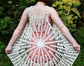 Spider Web Vest Mandala Dress PATTERN Make your own ...Digital Download