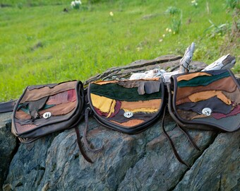 Raw edged Leather Festival Belt, Gypsy, Boho, Burning man, Utility Belt