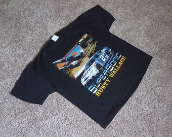 Vintage 90s Rusty Wallace Miller Lite #2 Ford Taurus NASCAR T Shirt