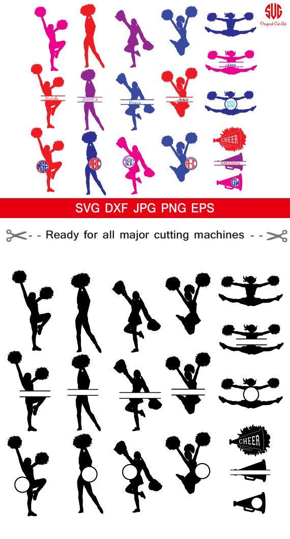 Cheerleading svg, Cheerleader Svg, Monogram Frame Svg, Cheer Cut ...