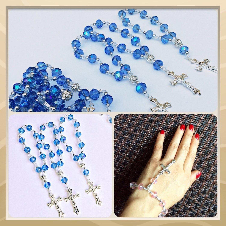 12 rosary bracelet Baptism favors first munion favor