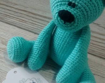 Teddy Bear * Aquamarine Bear * Turquoise Bear * Crochet Teddy Bear