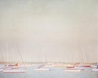 Sailboat Photograph, harbor, Boat print, Nautical Decor