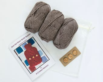 Hot Water Bottle Sweater - Make your own - knitting kit.