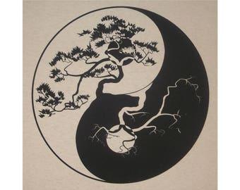 Yin Yang Chinese Tao T-Shirt BL
