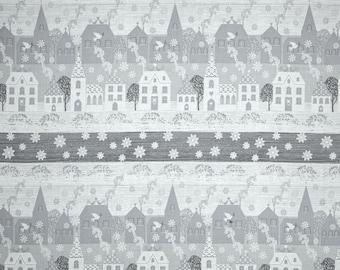 Windham - Glisten by Whistler Studios - Metallic Houses Stripe - Silver/Gray