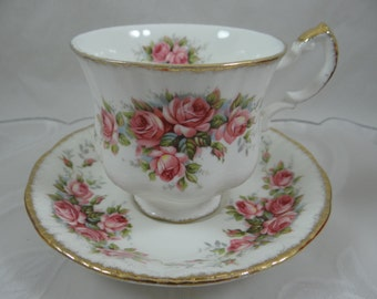 "Vintage Paragon Fine English Bone China Teacup ""Elizabeth Rose"" English Teacup and Saucer English Tea Cup - 4 Available"