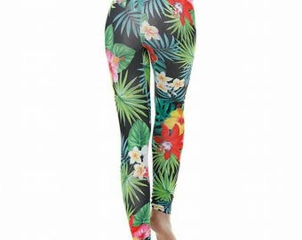 Tropical Jungle print Leggings