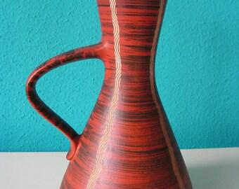 Vintage Mod Ceramic vase from West Germany, marked, 1960s