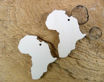 """African Wood Earring Shapes 3"""" H x 2 3/8"""" W (76mm x 60mm) With Hole Laser Cut - 12 Pieces"""