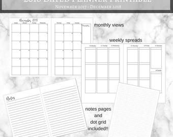 2018 Dated Planner | All Sizes!!