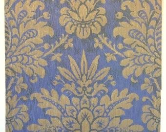 Beautiful 19th C. Zuber French Damask Wallpaper (# W107)