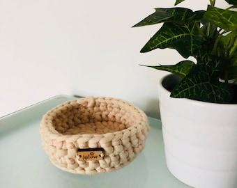 Solid Colour Crochet Storage Containers \\ Crochet Baskets \\ Crochet Bowls \\ Bathroom Storage \\ Office Storage