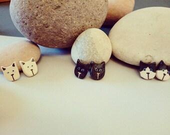 Ceramic Earrings Cats