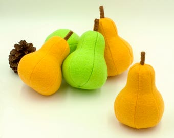 Felt food pear, Play food, Pretend food for play kitchen, Plush toy  pear, Felt fruit, Educational toy