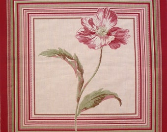 Fabric Panel tapestry poppy coupon