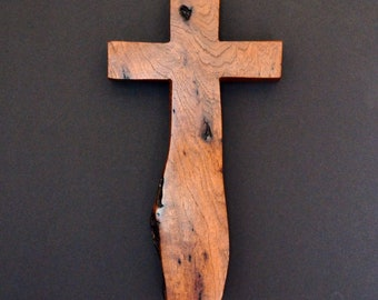 "Wood Cross; Christian Gift; Wall Decor; Wood Gift; Wedding Gift; Sympathy Gift; Mesquite; 7""x12""x1""; Free Ground Shipping USA;cc35-103082018"