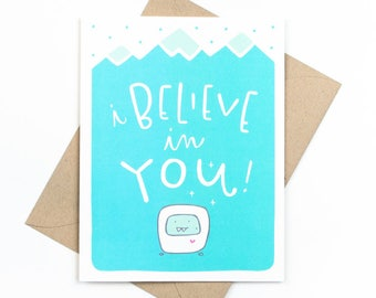 i believe in you card - abominable snowman
