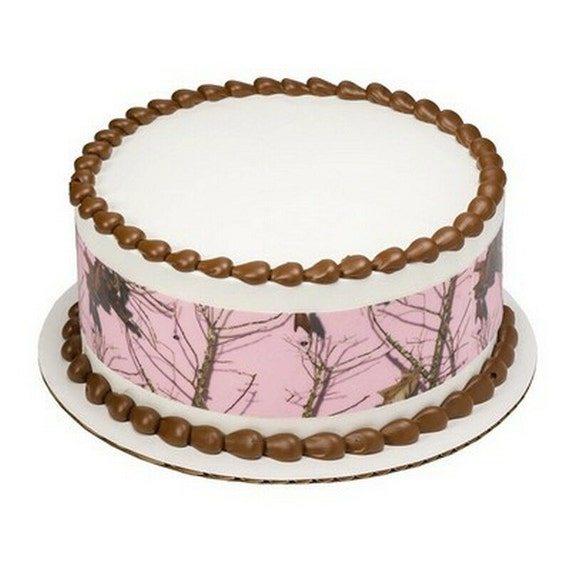 Pink Camo - Licensed Birthday - Designer Strips - Edible Cake Side Toppers- Decorate The Sides of Your Cake! - D8447