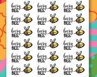Busy Bee - Planner StickerSheet, Sticker Kit, Erin Condren Life Planner Stickers, Happy Planner Stickers, Personal Planner Stickers
