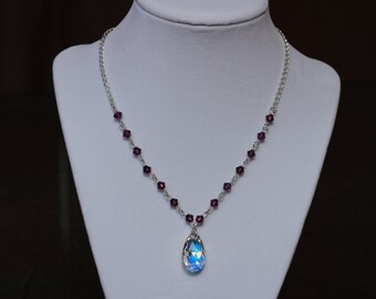Swarovski Crystal AB Tear Drop Necklace