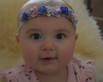 Purple Flowered Headband
