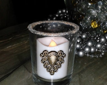 No-Flame Candles with Elegant Votive