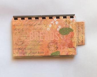 Handmade Peach 'Breads' Blank Recipe book for Personal Recipes