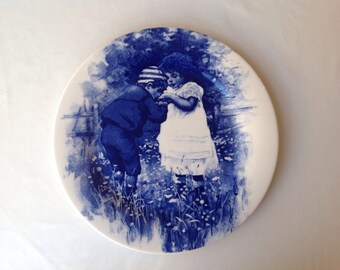 Blue children decorative plate