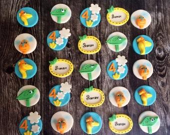 Dinosaur Train themed Birthday cupcake toppers - set of 12