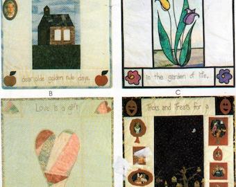 McCalls 2825, Wall Quilts , Freindship Quilt, Love Quilt, Halloween Quilt, School Quilt patterns, Uncut