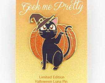 Seconds Sale! Sailor Moon Halloween Luna Hard Enamel Pin Limited Edition