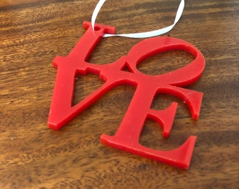Red Acrylic Love Ornament